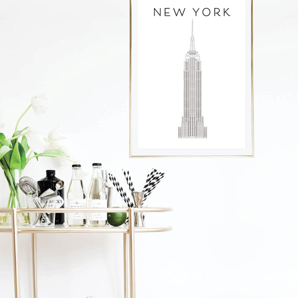 New York Empire State Building Print