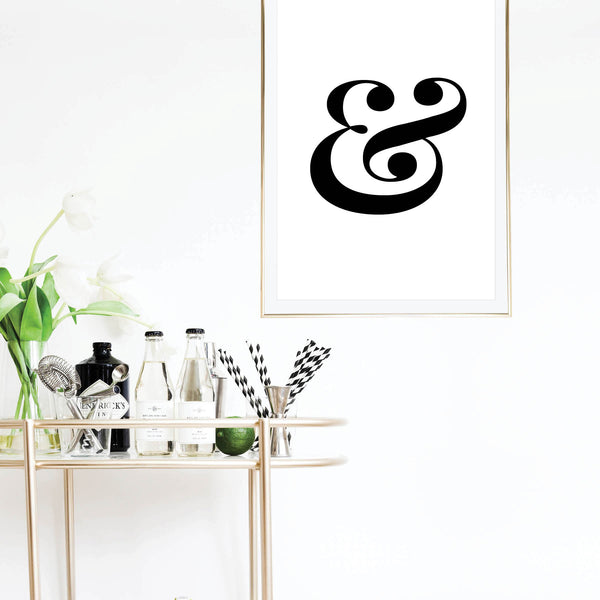 Ampersand Bold and Elegant Print - Typologie Paper Co