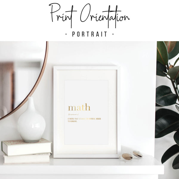 Math Definition Foiled Art Print