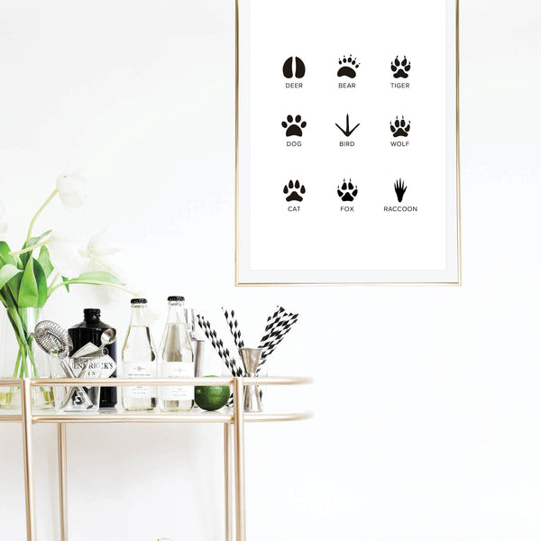 Animal Tracks Print - Typologie Paper Co