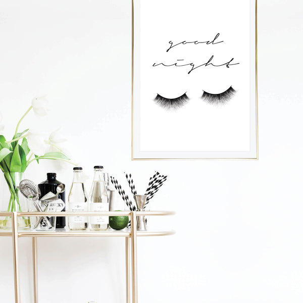 Goodnight Eyelashes Makeup Print