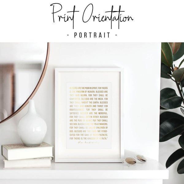 The Beatitudes Foiled Art Print
