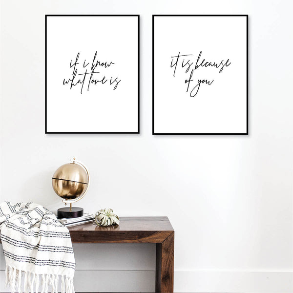 If I Know What Love Is / It Is Because of You Print Set