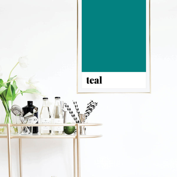 Teal Color Print