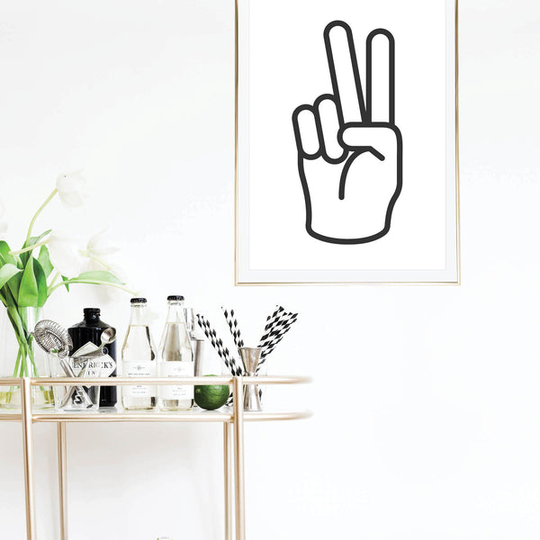 Peace Sign Print