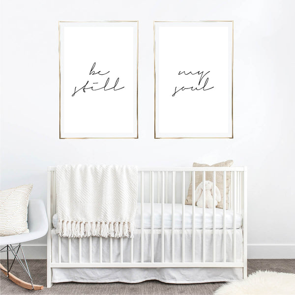 Be Still / My Soul Thin Script Print Set - Typologie Paper Co