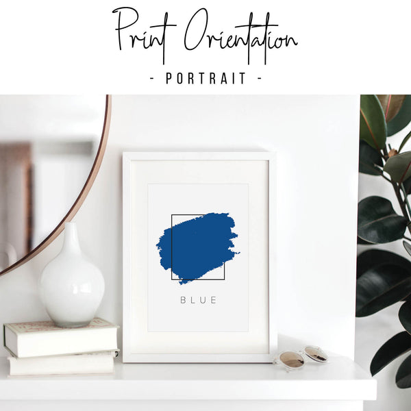 Blue Color Box Print