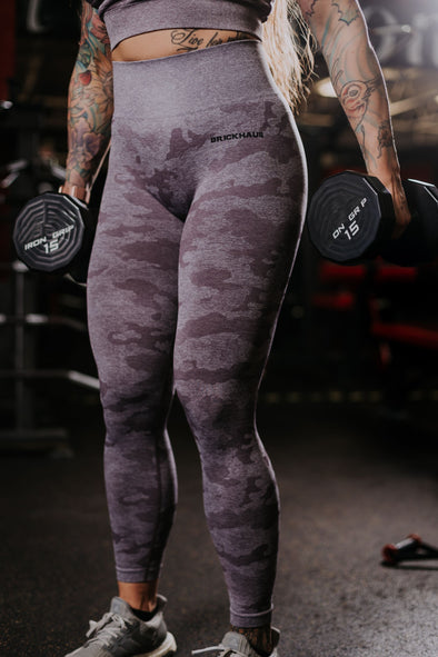 Purple Camo Seamless Leggings