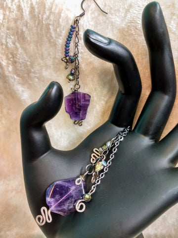 Bohemian Amethyst Treasure Trove Earrings