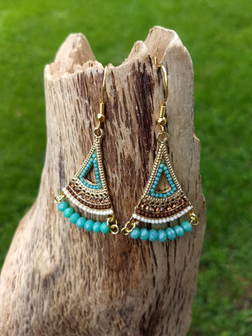 Boho Glam Fan Earrings