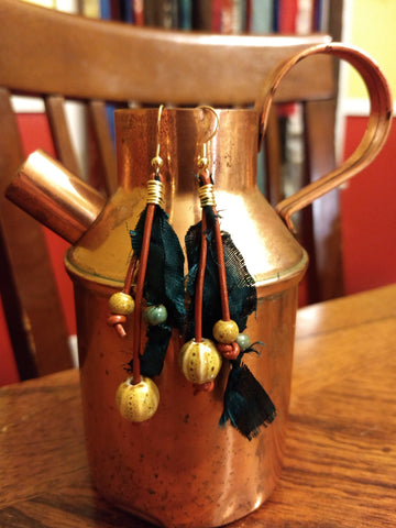 Boho Mixed Media Earrings