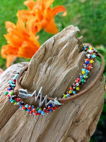 Funkadelic Rainbow Stacked Bracelet Set