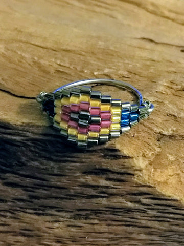 Southwestern Seed Bead Ring