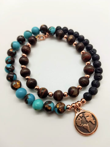 Guided and Grounded Wrap Bracelet