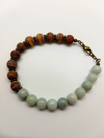 First Frost Agate Bracelet