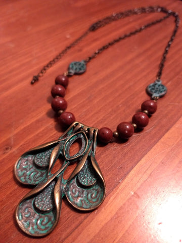 Patina Petal Necklace