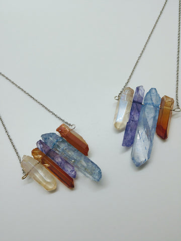 Winter Rainbow Crystal Necklace