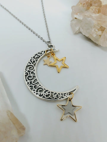 Filagree Crescent Necklace