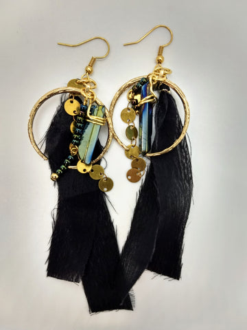 The Raven and The Moon Earrings