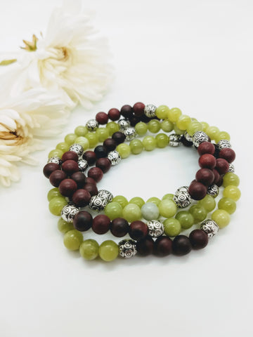 Chinese Jade Stretch Bracelet