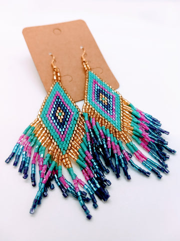 Big Boho Handwoven Earrings