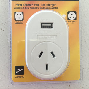 Travel Adaptor with USB charger for South Africa or Namibia