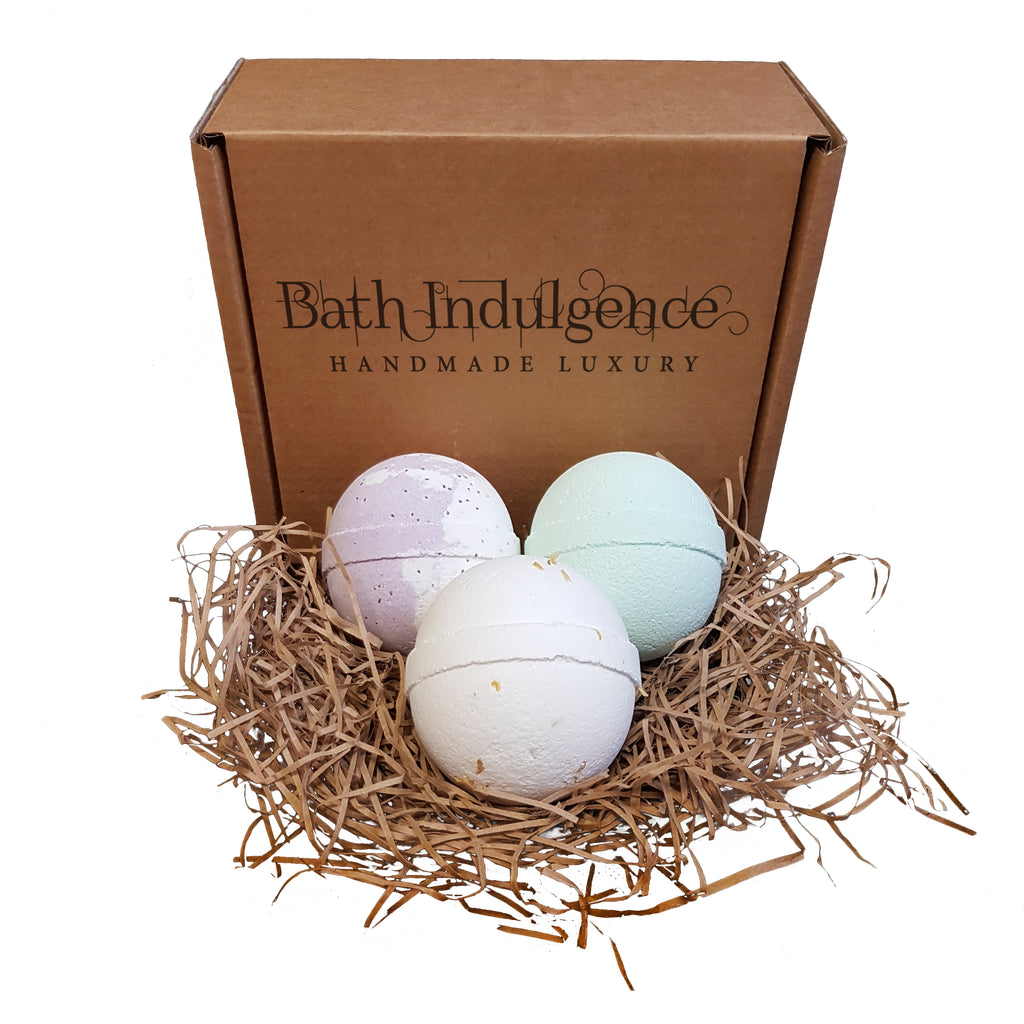 Small Three Handmade Bath Bombs Subscription Box