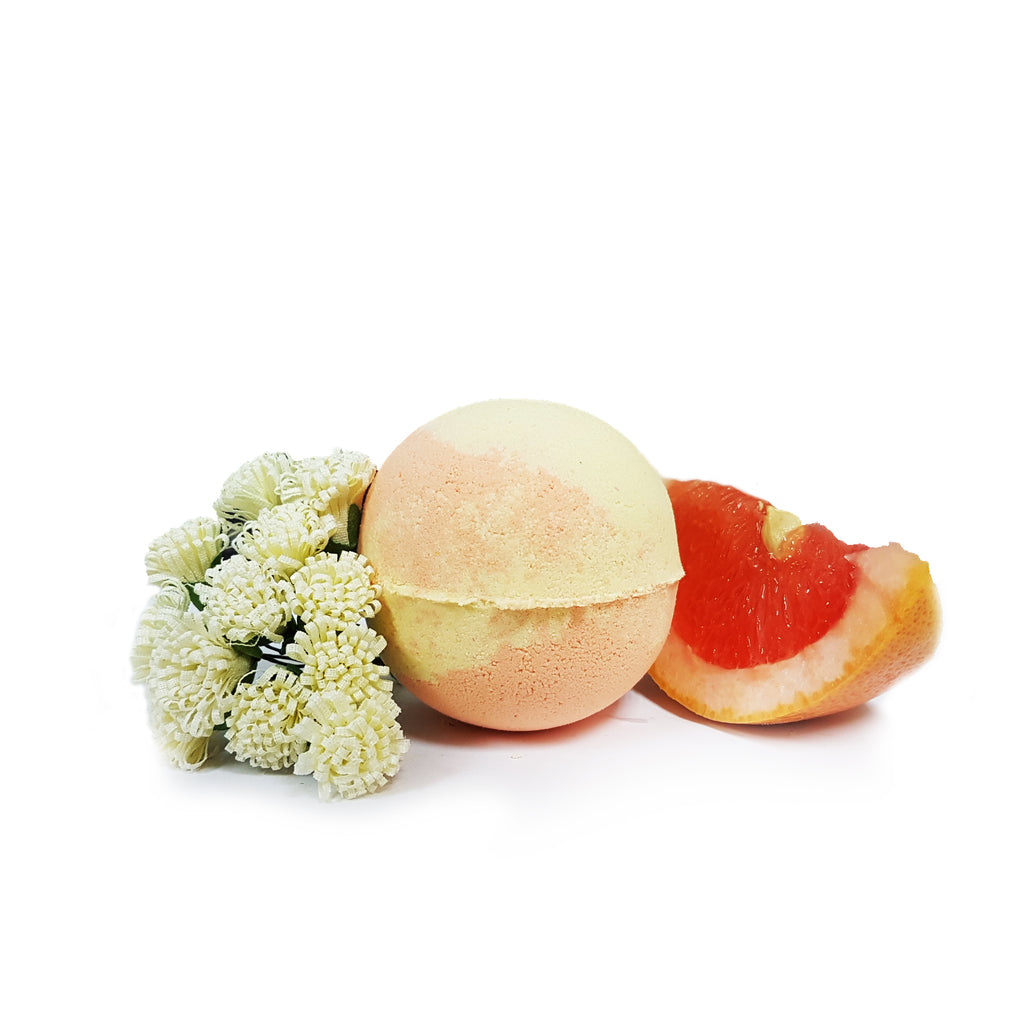 Red Grapefruit & Sugarcane Handmade Bath Bomb