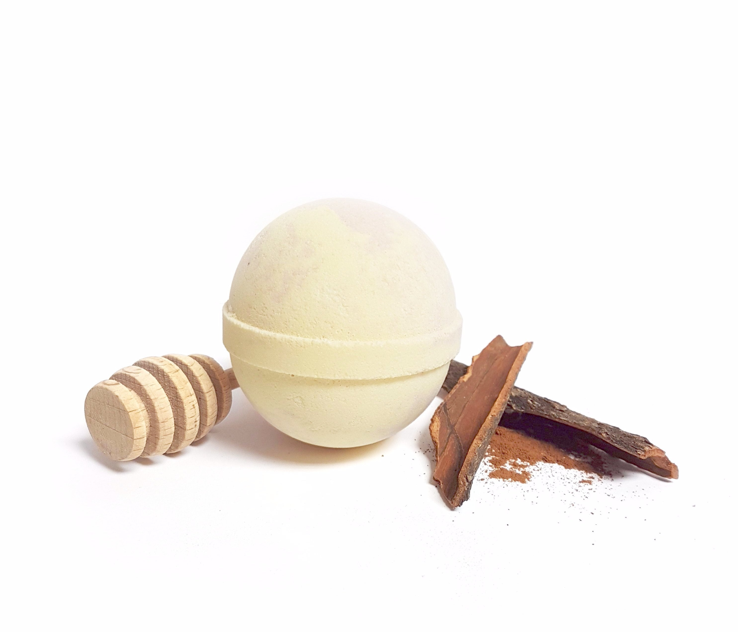 Honey, Vanilla & Cinnamon Handmade Bath Bomb