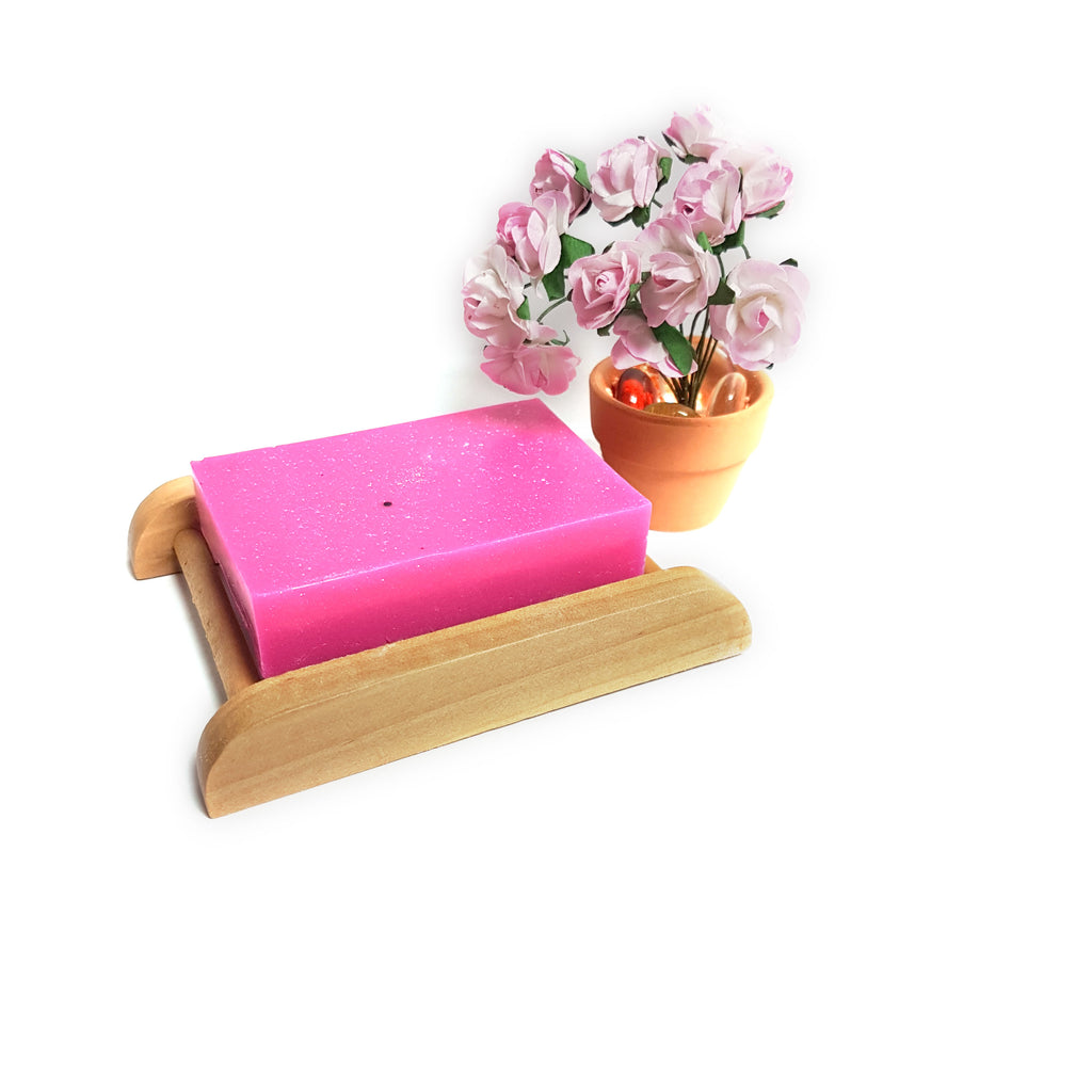 Pink Fizz Shea Butter Handmade Soap Bar