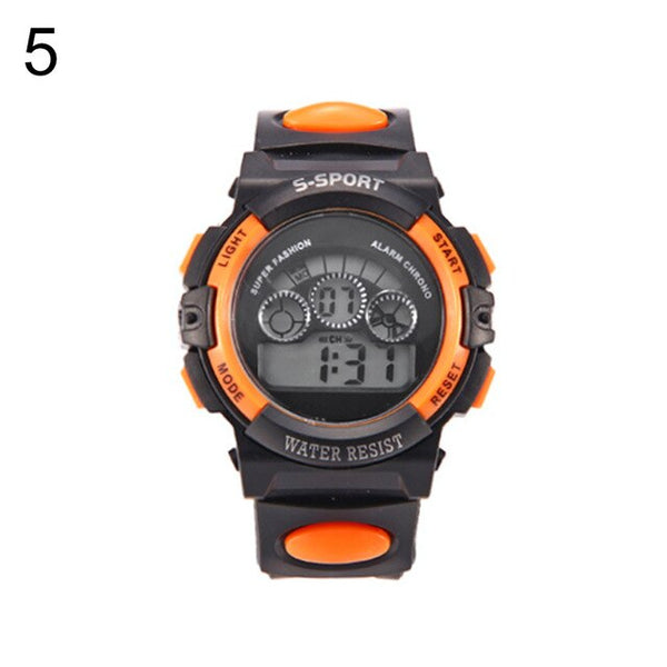 Kids Waterproof Electronic Clock Children LED Digital Display Alarm Date Luminous Sports Wrist Watch New for Boys Girls Men Wome
