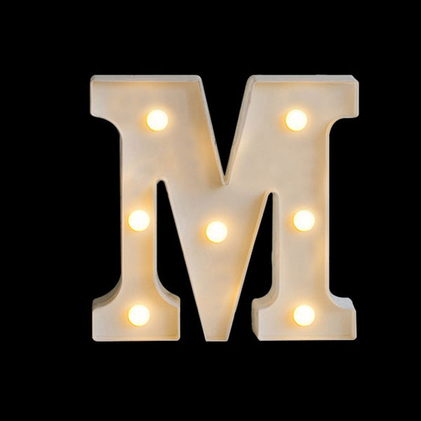 Luminous LED Letter Night Light Creative 26 English Alphabet Battery Lamp Romantic Wedding Party Decoration Christmas Gift 16cm