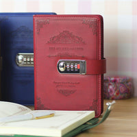 Retro With Lock Password Leather Notepad Agenda 2020 Leather Notebook Stationery Memo Organizer Travelers Planner Bible Diary