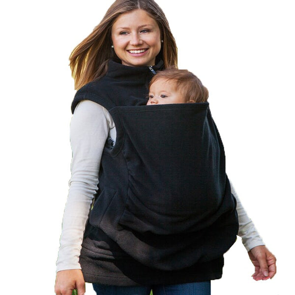 2020 Fashion Maternity Breastfeeding Hoodie Womens Kangaroo Hoodie Sleeveless Vest Outwear Coat Jacket for Baby Carriers