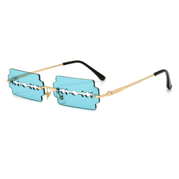 Fashion Rimless Sunglasses Women Personality Trend Unique Razor Blade Sunglasses Man Brand Driving Glasses Oculos De Sol UV400