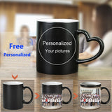 DIY Personalized Magic Mug Heat Sensitive Ceramic Mugs Color Changing Coffee Milk Cup Gift Print Pictures H1228