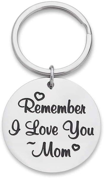 Mothers Day Gifts Keychain for Mom from Daughter Son Remember I Love You Mom Birthday Gifts for Women Mommy Key Ring for Her