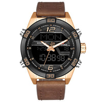 NAVIFORCE Luxury Brand Men Fashion Sports Watches Men's Waterproof Quartz Date Clock Man Leather Army Military Wrist Watch 2019