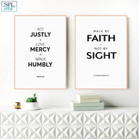 SPLSPL Love, Mercy Christian Scripture Bible Verse Cuadro Decorativo Quote Canvas Print Wall Picture for Living Room Kids Decor