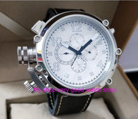 50mm parnis white dial Left hand type Automatic Self-Wind movement multi-function luminous Men's watches dfgd202A