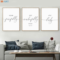 Bible Verse Prints Quotes Posters Minimalist Canvas Painting Nursery Wall Art Nordic Decoration Wall Pictures for Living Room