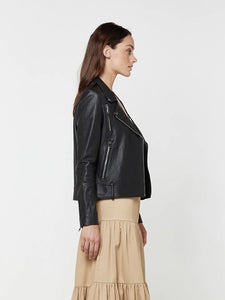 Carrie Leather Jacket Black