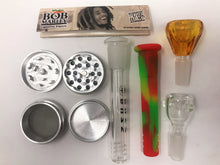 "Best 13"" Detachable Silicone Bong Grinder Bob Marley Papers & Bonus Extras! - Volo Smoke and Vape"