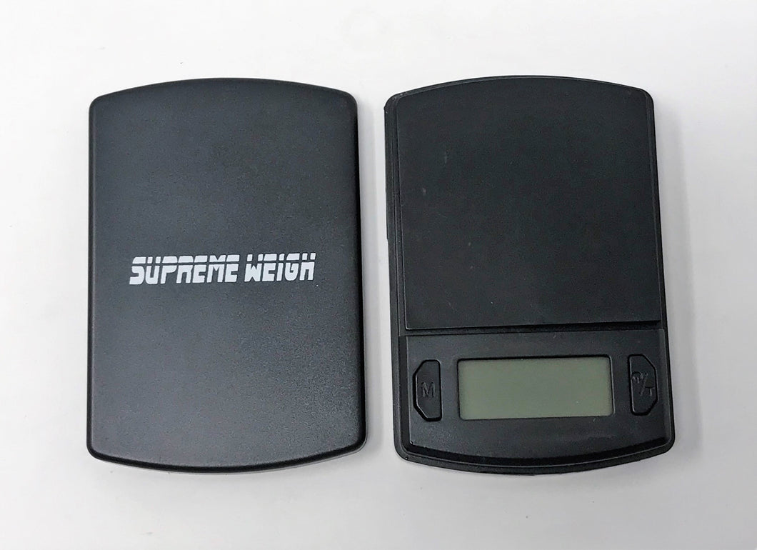 SUPREME WEIGHT Digital Pocket Scale 600g by 0.01g, Black Gram Scale (SW03)