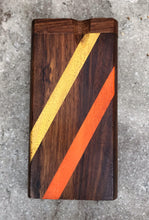 "4"" 2-Stripe (Orange & Yellow) Wood Dugout + 3"" Metal Bat with Pop Top"