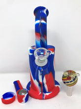"9"" Detachable Silicone Best Water Bong 2 Herb Bowls Silicone Hand Pipe - Volo Smoke and Vape"