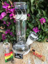 "Classy 9.5"" Thick Glass Water Rig Round Bottom,2 Bowls,Raw Papers,Screens - Volo Smoke and Vape"