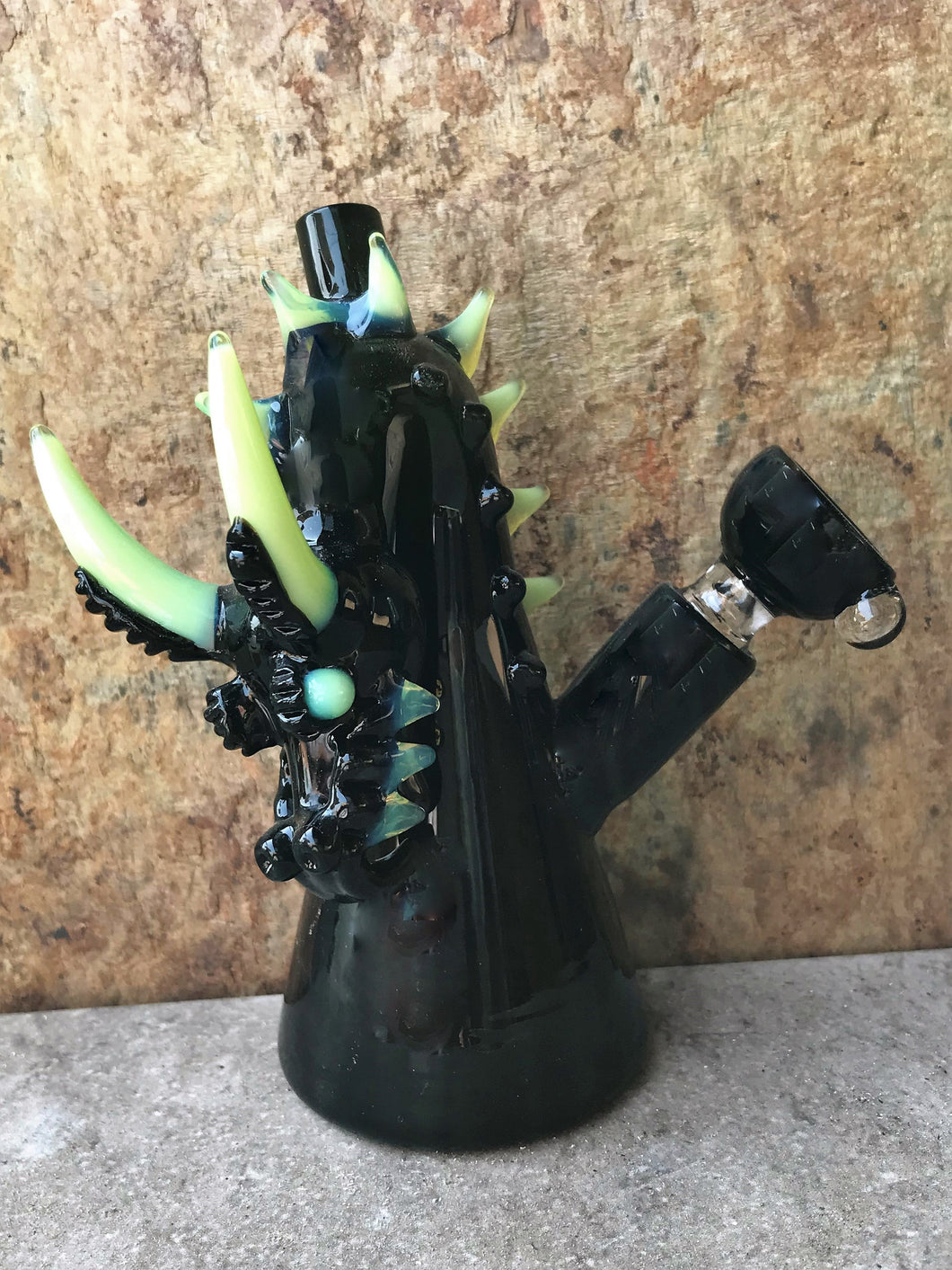 Collectible Black Glass Dragon 5.5