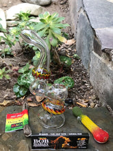 "6 1/2"" Water Rig High Quality Glass Bubbler + Bob Marley Papers, Wick - Volo Smoke and Vape"