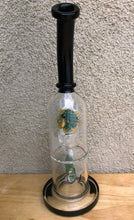 "Collectible 12.5"" Thick Glass Inline Perc Hookah Bong w/Glass Flower & Bee Deco"